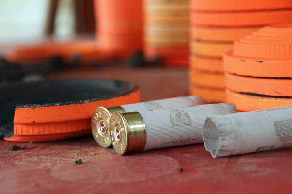 cartridges, shooting, clay